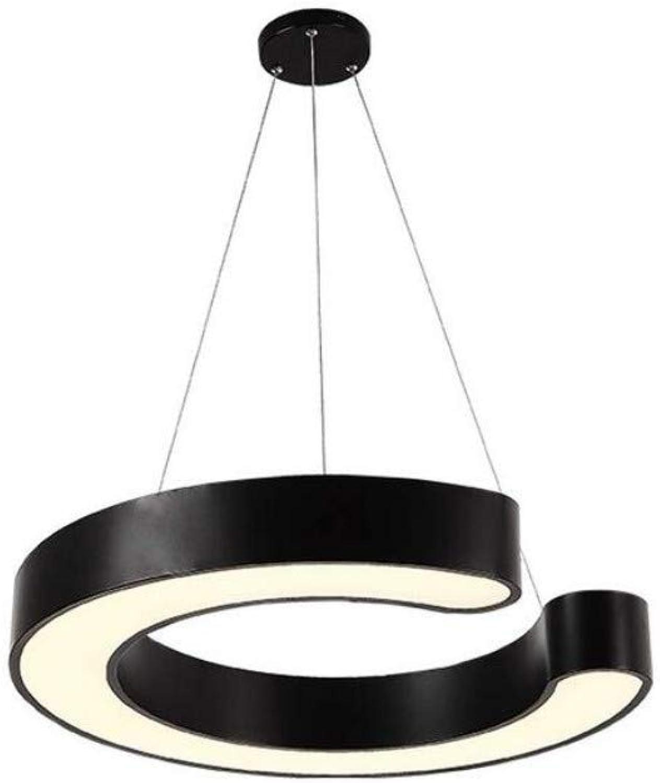 Retro Lichtrestaurant Licht Kreative C Form Hngende Lampe Schwarz Wei Eisen Hhe Einstellbar Kronleuchter Mode Einfachen Stil Schlafzimmer Wohnzimmer Lichter