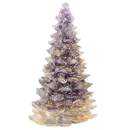 Amogeeli Orgone Healing Stone Tree Desk Ornament Christmas Tree Figurine Energy Crystal Pine Tree Home Decor