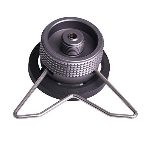 Adaptador de estufa de gas Cartucho de butano Conversión de cabeza de campamento Equipos de cocina Convertidor de bloqueo de rosca larga Marco exterior Sello integrado
