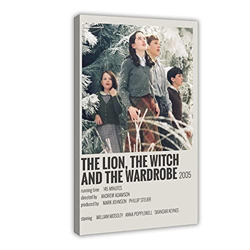 Vintage-Filmposter The Lion, The Witch And The Wardrobe Minimalistisches Show-Leinwandbild, Wandkunst, Wohnzimmer, Schlafzimmer, Dekoration, Rahmen: 40 x 60 cm