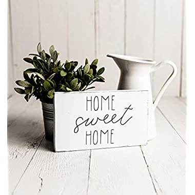 Home Sweet Home Sign | Rustic Wood Sign | Farmhouse Sign | Inspired Rae Dunn Sign | Rustic Home Decor | Farmhouse Home Decor | Industrial Farmhouse Decor | Shabby Chic Decor | Primitive Decor