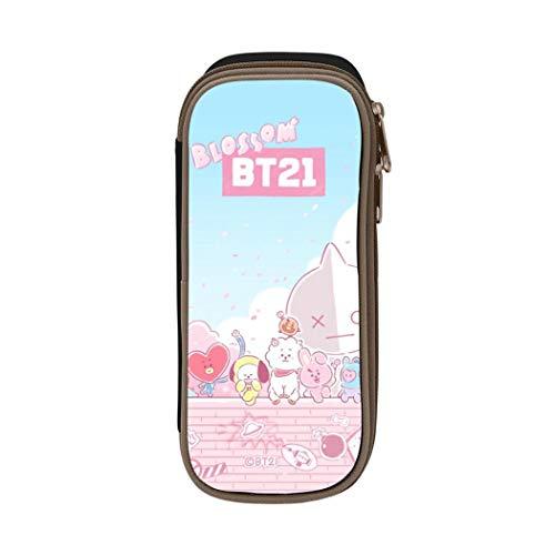 B-T21 Astuccio grande capacità portapenne ufficio cancelleria sacchetto per Gilrs ragazzi e adulti ONE_SIZE Nero