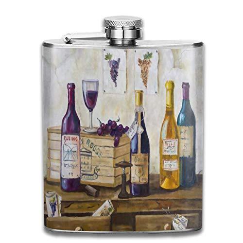 Flask Houten Fles Wijndruif RVS Kleine Hip Flask Mens Lekvrij Vlagon Outdoor Draagbare Flask voor Alcohol Whiskey Rum en Vodka