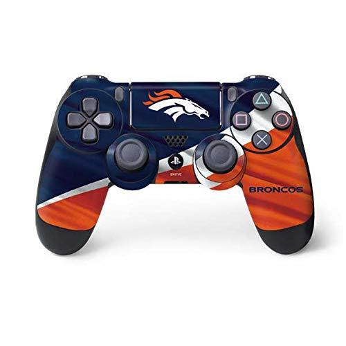Skinit Decal Gaming Skin for PS4 Controller - Officially Licensed NFL Denver Broncos Design