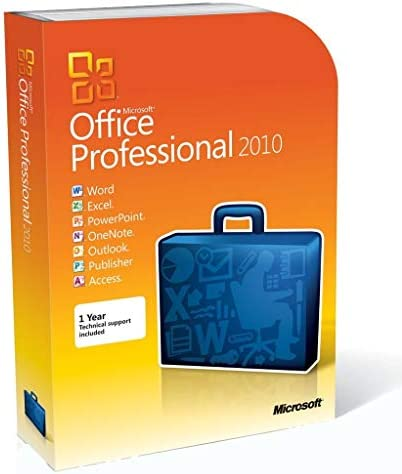 Microsoft Office Professional 2010 2PC 1User Disc Version product image