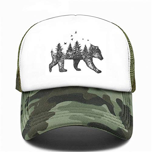 Trucker Cap Cap Hat Hip Hop Men Women Hat Baseball Cap Cool Summer Mesh Caps-Camouflage-1-Kid 52to55cm