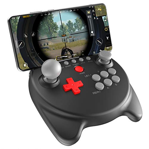 ipega-PG-9191 Elvis Dual Rocker Wireless 5.0 Gamepad Mobile Joystick Controller for iOS(Support iOS 11.0-13.3.1 system)/Android Mobile Smartphone Tablet, Wired Connection is Suitable for N-Switch /PS3