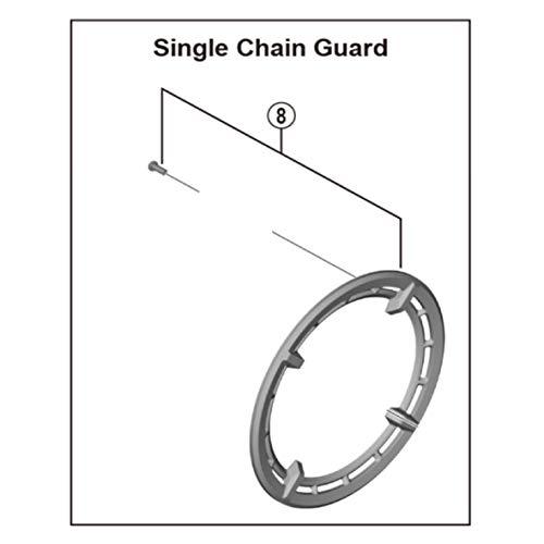 Shimano Spares FC-E6100 38T - Cubierta de anillo y perno de fijación