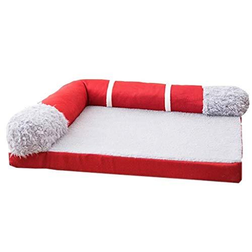 Lszdp-store Haustierbett extra weich waschbar komfortabel Hundekorb, Sofa, Premium orthopädische Memory Foam Hund Matratze for mittelgroße Hunde (3 Farben) als Geschenk
