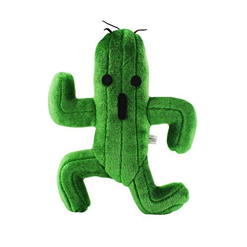 ZHYGDQ Peluche 25 cm Cactus Final Fantasy Peluche Peluche Plante Verte Peluche poupée