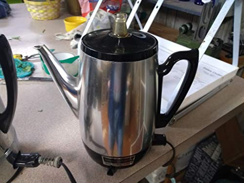 Early 1960s GE Percolator in WONDERFUL CONDITION !!! Perks some MIGHTY SMOOTH Coffee too !!!