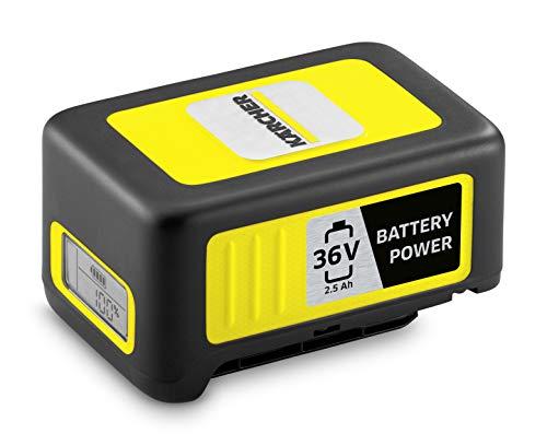 Kärcher Battery Power 36/25, 36 V, 2,5 Ah (Energieverbrauch 90 Wh, Echtzeitanzeige Akku, Lithium-Ionen-Akku, extrem robust, Temperaturmanagement, Strahlwasser geschützt, automatischer Lagermodus)