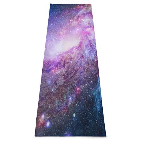 CONICIXI Esterilla Yoga Nebulosas Espacio Profundo Cielo Universo Resplandor Noche Concepto Ciencia Colchonetas de ejercicio Pilates para entrenamiento en casa Gimnasio Fitness Meditación Alfombra