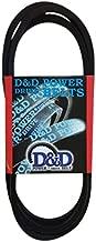 D&D PowerDrive A92/4L940 V Belt, A/4L, Rubber, 1/2
