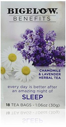 Bigelow Benefits Sleep Chamomile & Lavender Herbal Tea, 18 ct