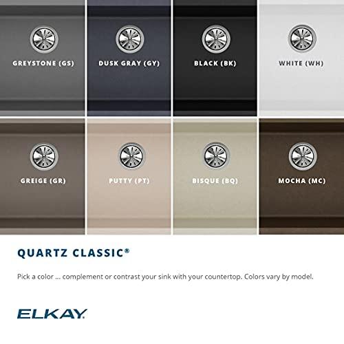 Elkay Quartz Classic ELGRU13322WH0 White Single Bowl Undermount Sink