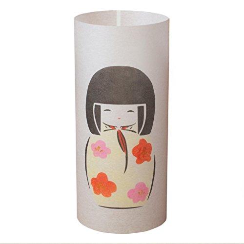 KOKESHI - Lampe japonaise faite à la main - Poupée traditionnelle japonaise
