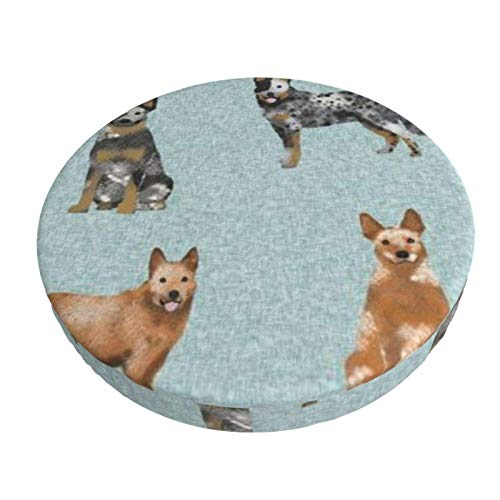 Round Bar Stools Cover,Australisches Rinderhundetier,Stretch Chair Seat Bar Stool Cover Seat Cushion Slipcovers Chair Cushion Cover Round Lift Chair Stool