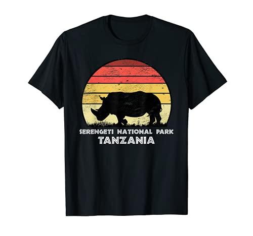 Vintage Retro Serengeti National Park, Tansania Afrika Safar T-Shirt