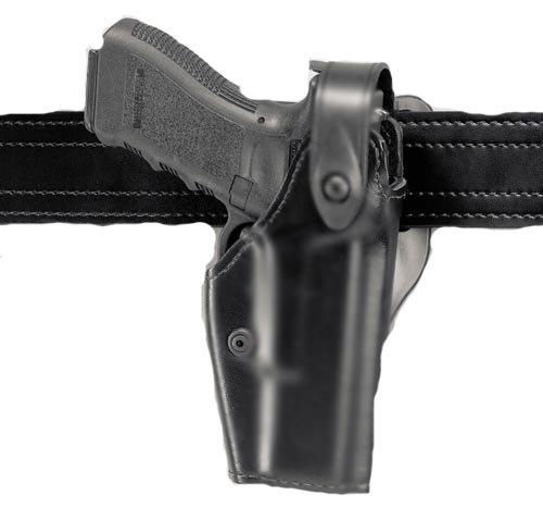 Safariland 6280Nivel II o III retención SLS Deber Holster Mid-Ride, Negro, STX Plain, Glock 17/22