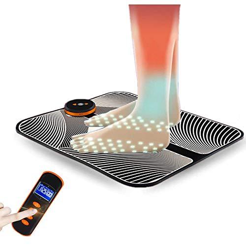 EMS-Elektrische Fußmassagematte - Intelligentes EMS-Fußmassagegerät - Fuß-ABS-Fußzirkulationsstimulator zur Linderung von Schmerzen in den Beinen und zur Verringerung