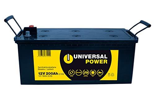 Universal Power Solar Batterie Wohnmobilbatterie zyklenfest UPA12-200 12V 200Ah (C100)