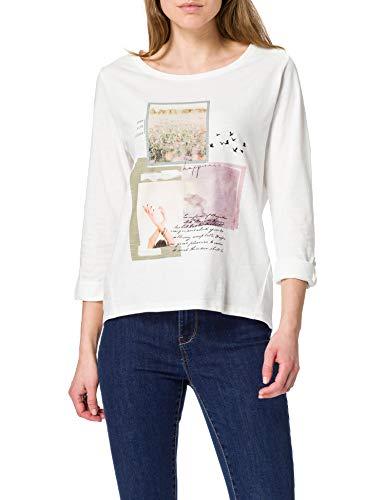 edc by Esprit 021cc1k303 Camiseta, 110/Off White, L para Mujer