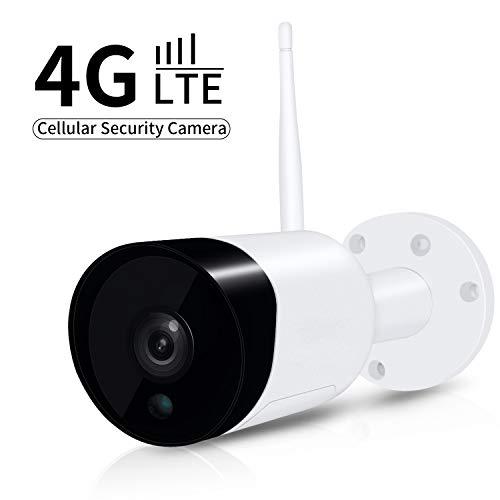 Voila Reve 4G LTE Mobile Überwachungskamera, 1080P Outdoor-Kamera, kein WiFi nötig, wetterfest, Nachtsicht, Micro-SD-Kartenslot