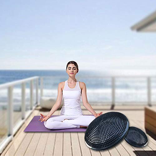 Balanceplatte Fitness Yoga Air Cushion Rehabilitation Trainingsgeräte Knöchel Rehabilitation Soft Pedal Balance Kissen Explosionsgeschützte Massage Platte Ingxijie1ha QiuGe (Color : Black)