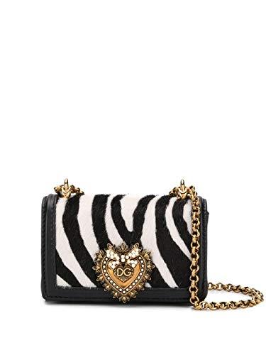 DOLCE E GABBANA Luxury Fashion Damen BI1399AX663HWAGN Schwarz Leder Schultertasche | Frühling Sommer 20