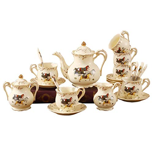 Juego de Tetera de Mesa de té, Juego de té Chino Hecho a Mano, Tetera de Porcelana, Juego de Taza de té de cerámica Creativa, Juego de té de Estilo