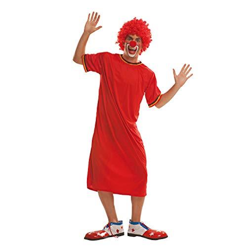 My Other Me Me-200557 Disfraz de payaso para hombre, color rojo, M-L (Viving Costumes 200557)