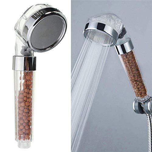 Ducha de mano De mano de ahorro de agua de ducha Cabeza de ducha del baño boquilla del aspersor rociador de mano transparente Filtro de ducha Cabeza de ducha