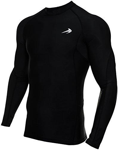 CompressionZ Herren Baselayer-Unterhemd, schnelltrocknend, langärmelig, Herren, Fba_788454669904, schwarz, XX-Large
