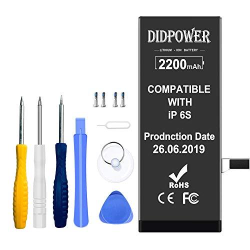 Didpower Kompatibel mit iPhone 6S Akku 2200 mAh, Ersatz mit höherer Kapazität Batterie mit Werkzeug Set und Reparaturset