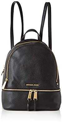 MICHAEL Michael Kors Rhea Zip Medium Leather Backpack, Black by MICHAEL Michael Kors