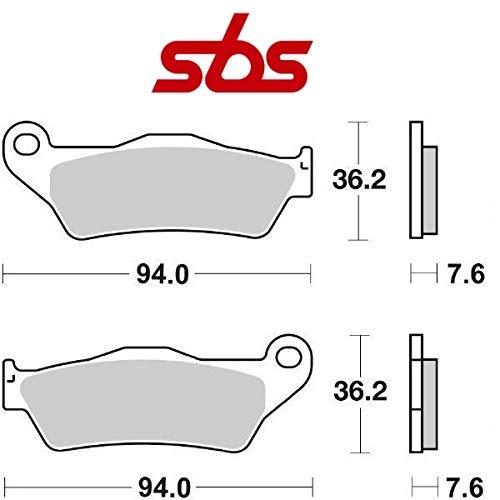 Compatible con GILERA Nexus/Nexus E3/Nexus SP E3 500 2003-2012 PASTIGLIA Freno anteriore Pastillas DE Freno SBS 151MS SINTERIZADO