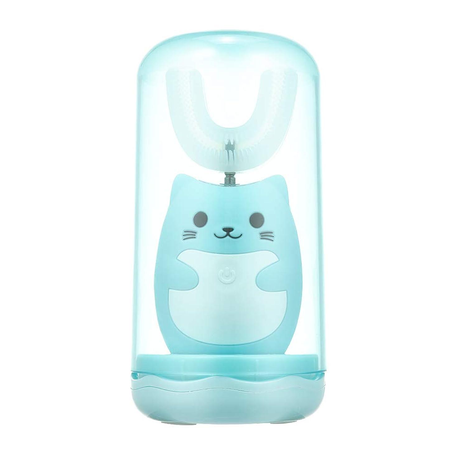 救いポイント大きいDecdeal 電動歯ブラシ 子供用 U型 充電式 歯ブラシ 3つモード 防水 幼児 子供