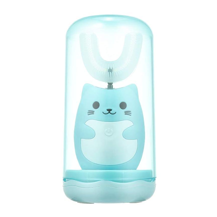 解決じゃない家主Decdeal 電動歯ブラシ 子供用 U型 充電式 歯ブラシ 3つモード 防水 幼児 子供