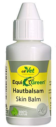 cdVet Naturprodukte EquiGreen Hautbalsam 100 ml - Pflegemittel für Pferde - Hautpflege, besonders für den Fesselbereicht - Krusten- und Grindbildung - mit Mandel- Johanniskrautöl und Ringelblume -