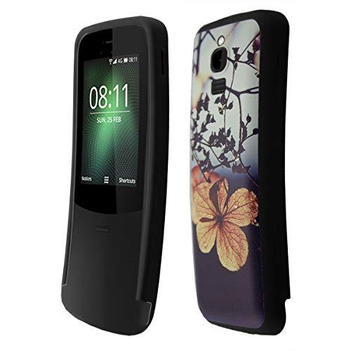 caseroxx TPU-Hülle für Nokia 8110 4G, Tasche (TPU-Hülle in Blumen Muster)
