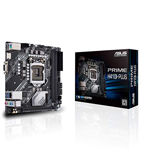 Asustek Computer ASUS Prime H410I-Plus Intel H410 (LGA 1200), scheda madre Mini-ITX, M.2, DDR4 2666MHz, HDMI, D-SUB, porte USB 3.2 Gen 1, SATA 6 Gbps, intestazione COM