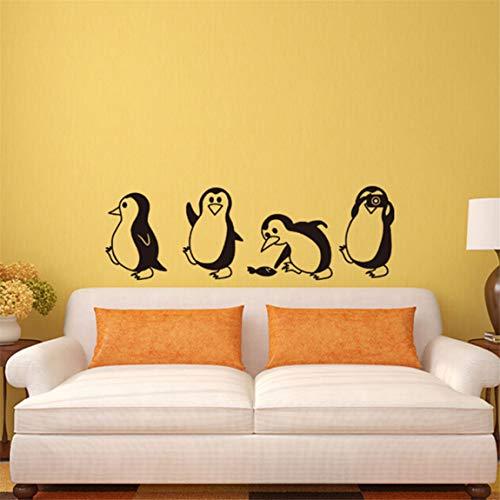 Weiy Schöne Pinguin Wandaufkleber Kreative Wandtattoos DIY Aufkleber Wandbild Removable Wall Art Aufkleber Für Wohnzimmer Kinderzimmer Home Küche Decor