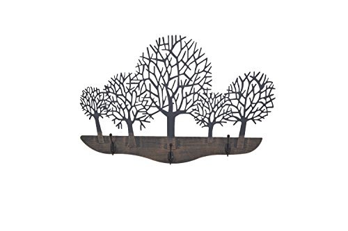 Perchero de pared, diseño de bosque