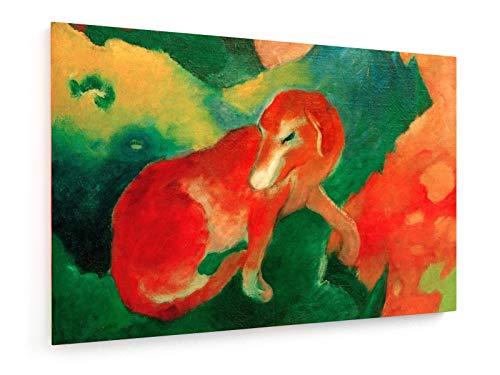 Franz Marc - Roter Hund - 30x20 cm - Leinwandbild auf Keilrahmen - Wand-Bild - Kunst, Gemälde, Foto, Bild auf Leinwand - Alte Meister/Museum