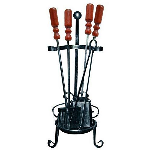 Divina fire 4 accessori per camino porta attrezzi ferro battuto pulizia df53567