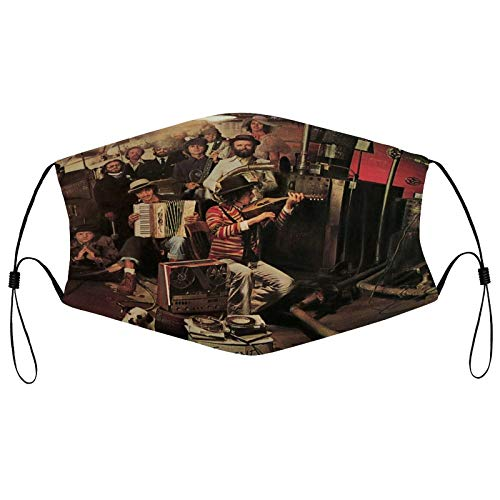 Bob Dylan The Basement Tapes Reusable Masks Cosplay Washable Mask Breathable Neck Gaiter Adjustable Face Decor for Men Women