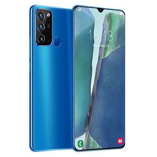 LINGXIU Teléfono,6.6 Pulgadas HD + 1440 * 3040, 4G, Red 5G, 12GB + 512GB 18MP + 48MP, Huella Digital Verdadera, Reconocimiento Facial, 5000mah