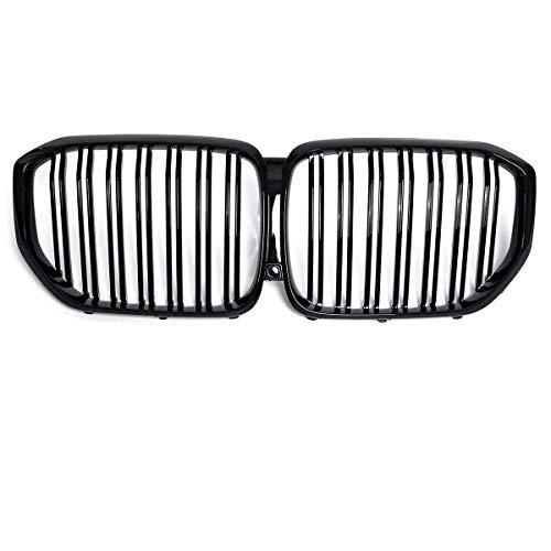 MADAENMJ Rejilla Brillante, 1 Par De Rejillas Negras Estilo Coche para Reajustar Listones De Parachoques Parrillas De Carreras De Doble Línea para BMW X Series G05 X5 2019 X 5 30D