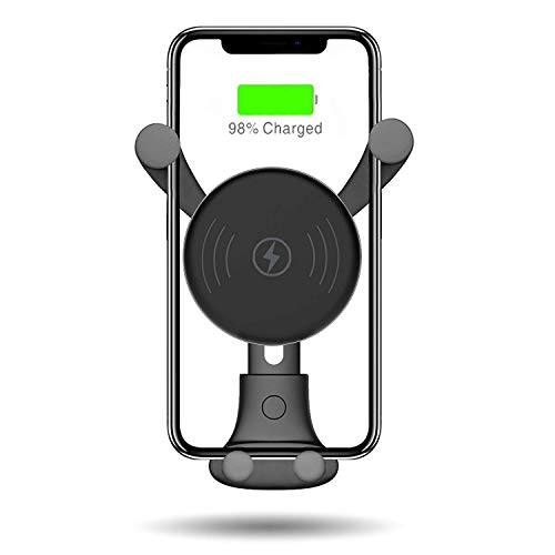 Wireless Car Charger, Auto-Clamping Gravity Air Vent Car Phone Holder 10W Fast Charging Compatible with iPhone 11/11pro/11pro MAX/Xs MAX/XS/XR/X/8/8p,...